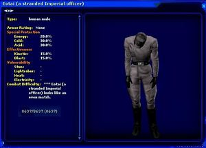 A stranded Imperial officer NPC (Example) - SWGANH Wiki